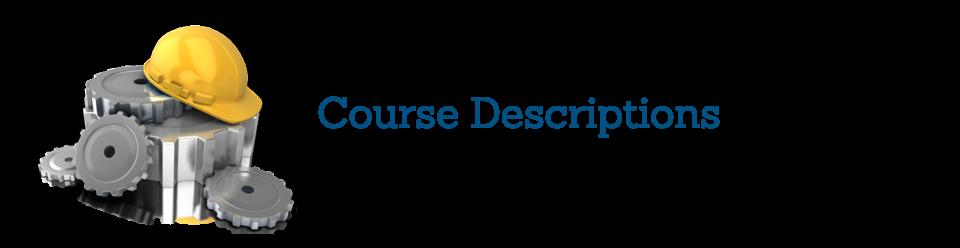 Contractor Continuing Education Course Descriptins