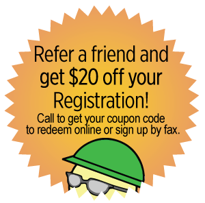 Refer a friend and get $20 off your Registration