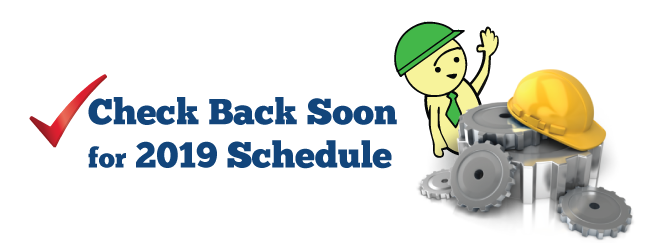 Check Back Soon For 2019 Schedule