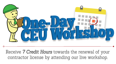 Contractor Continuing Education Workshop 7 Credit Hour  Live Courses - Fort Myers *TEST*
