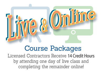 Contractor Continuing Education Workshop Live and Online Course Package - Tampa